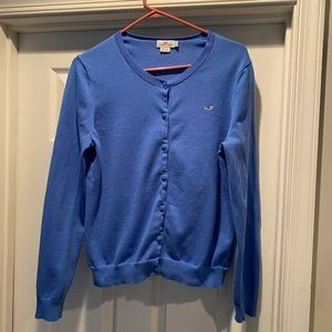 Vineyard vines cornflower blue cardigan Sz large